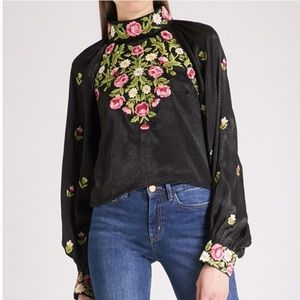 Free People cropped Jessica blouse size XS